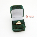 Claddagh Ring Love Loyalty and Friendship Ring 14 K Gold