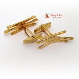Modernist Hand Made Cufflinks 14 K Gold