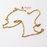 Ornate 14 K Yellow Gold Chain