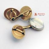 Vintage Moonstone Cufflinks 14 K Gold