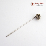 Victorian Stick Pin 10 K Gold Diamond Accent