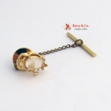 Magnificent Water Opal Stick Pin 14K Gold