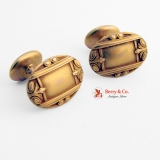 Edwardian Oval Cufflinks 14 K Yellow Gold