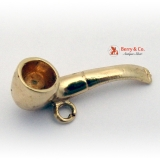 Vintage Pipe Charm 14 K Yellow Gold