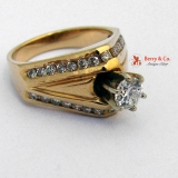 Diamond Ring 14 K Yellow Gold