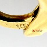 Chunky 14 K Gold Chain Bracelet