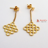 Dangle Circle Earrings 18 K Yellow Gold