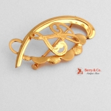 Ornate Monogram L Brooch 18 K Gold