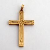 Vintage Cross Pendant 10 K Gold