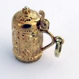 Vintage Tankard Charm 14 K Gold 585