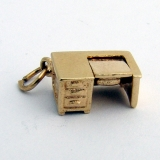 Vintage Charm Desk and Typewriter 14 K Gold