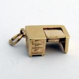 Vintage Charm Desk and Typewriter 14 K Gold