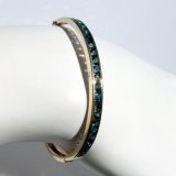 Vintage Bangle Bracelet Sapphires 14 K Yellow Gold