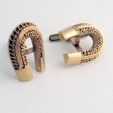Vintage Horse Shoe Cufflinks 14 K Gold