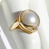 Mabe Pearl Ring 14 K Gold