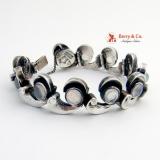 ANTONIO PINEDA Vintage Sterling Moonstone Bracelet Sterling Silver