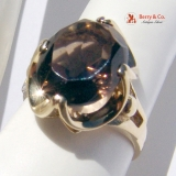 Smoky Quartz 14K Gold Ring