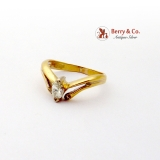 Amazing 18K Yellow Gold Diamond Ring