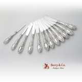.King Richard All Silver Butter Knives Sterling Silver 12 Pieces Towle 1932